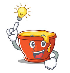have an idea honey character cartoon style vector image