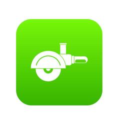high speed cut off machine icon digital green vector image