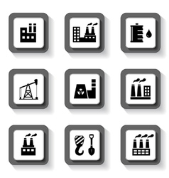 Industrial buttons set vector