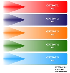 Infographics Options Banner EPS 10 vector image
