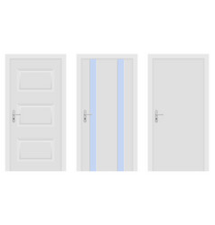 interior doors white set of designs vector image