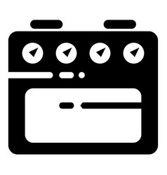 kitchen gas stove icon simple style vector image