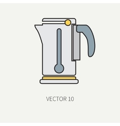 Line color kitchenware icons - electric vector