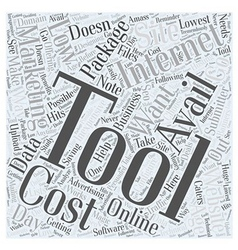 Low cost internet marketing tools Word Cloud vector image