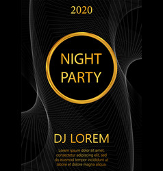 luxury night party flyer vector image