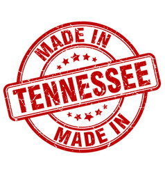 Made in tennessee red grunge round stamp vector