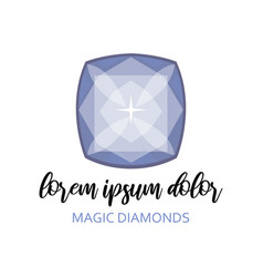 magic diamond with beautiful facets created by vector image