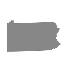 map us state pennsylvania vector image