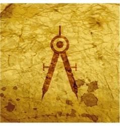Mathematical Compass icon symbol Flat modern web vector