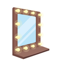 mirror in the make-up roommaking movie single vector image