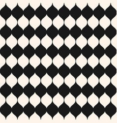 Monochrome seamless pattern vertical wavy shapes vector