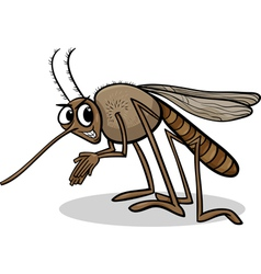 Mosquito insect cartoon vector
