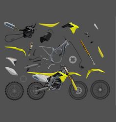 motorcycle parts bike 10eps vector image