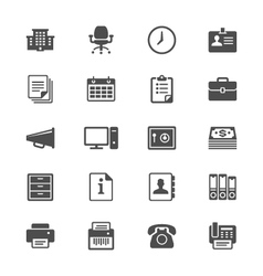 Office supplies flat icons vector image vector image