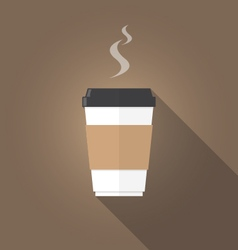 Paper cup of coffee flat design vector