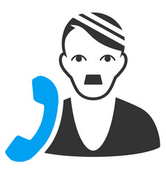 Patient phone flat icon vector