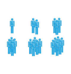people in groups symbols vector image