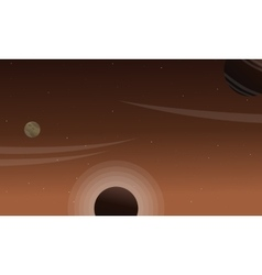Planet outer space of scenery vector