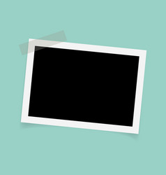 rectangle photo frames with sticky tape vector image