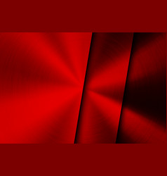 Red technology background with brushed metal vector