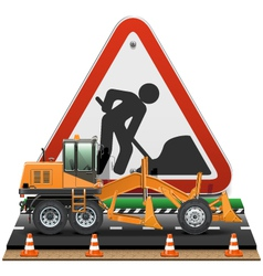 Road Construction Concept with Sign vector image
