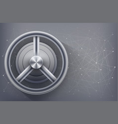 safe with blockchain lock vector image
