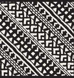 Seamless ethnic and tribal pattern hand drawn vector