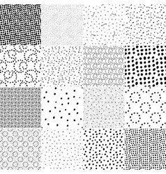 Set of seamless pattern with polka dot texture vector image