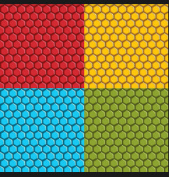 Set of seamless patterns with hexagonal tiles vector