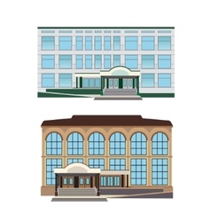 Set - two of modern buildings vector