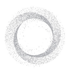 silver glitter circle abstract background vector image