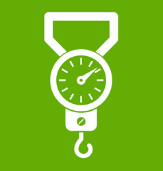 spring scale icon green vector image