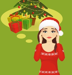 Stressed holiday woman vector