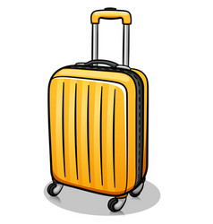 suitcase cartoon isolated design vector image