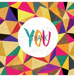 Thank you colorful card vector