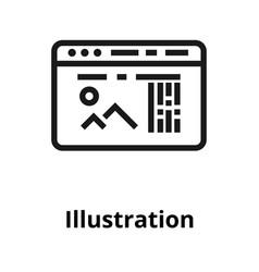 thin line icon vector image