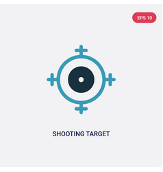 Two color shooting target icon from weapons vector