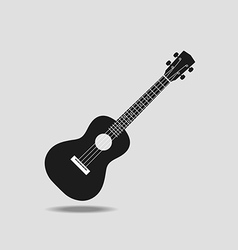 Ukulele icon on grey background flat design vector