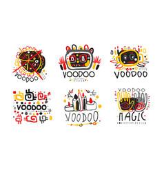 Voodoo original design logo collection african or vector