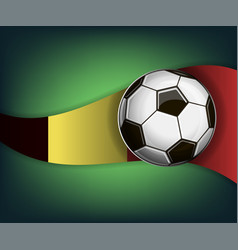 With soccet ball and flag of belgium vector