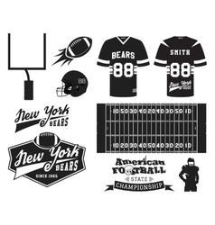 American football uniform t-shirt design with vector