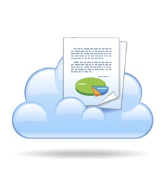 Cloud document vector image vector image