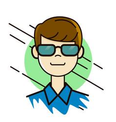 man in sunglasses portrait avatar design vector image