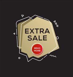 Sale golden banner design template vector