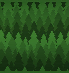 seamless pattern with dense dark fir trees vector image vector image