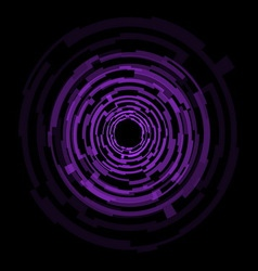 Abstract technology purple circles background vector image vector image