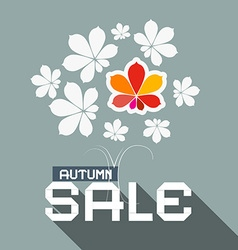 Autumn Sale Flat Design with Chestnut Tree L vector image vector image