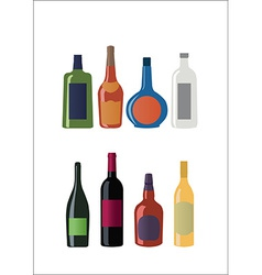 bottles set vector image