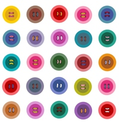 Colorful Buttons Seamless Pattern vector image vector image