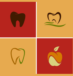 dental teeth logos vector image vector image